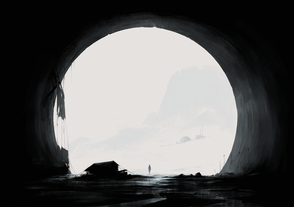 Cave Entrance. Art from the upcoming title currently in development at Playdead