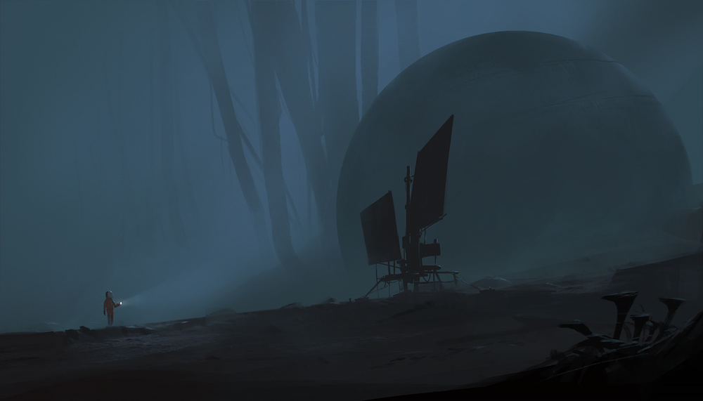 Exploring. Art from the upcoming title currently in development at Playdead