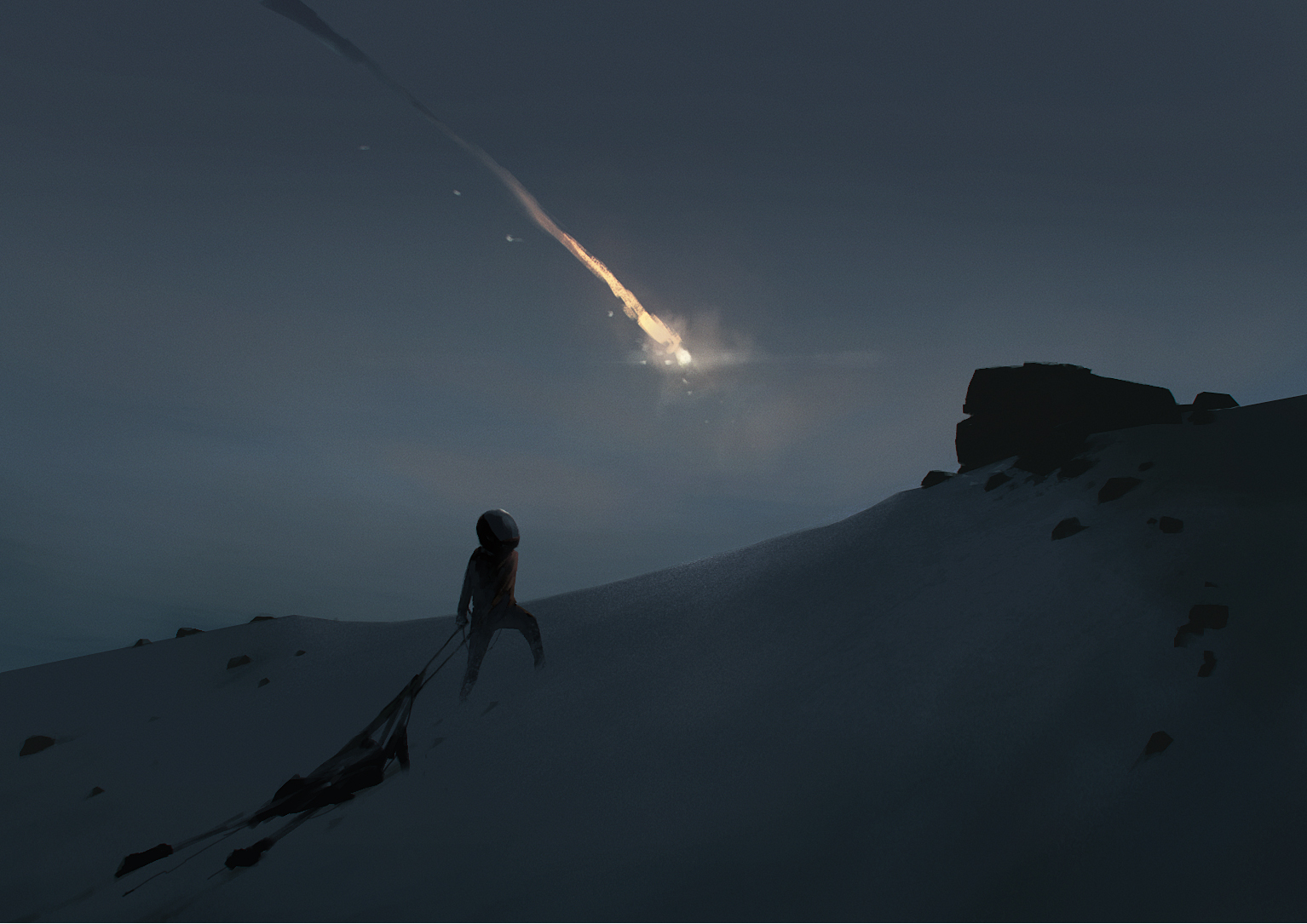 Falling pod. Art from the upcoming title currently in development at Playdead